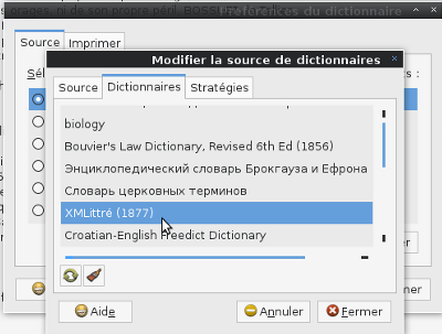 Dictionnaire GNOME