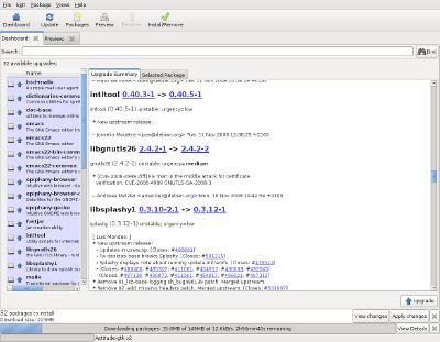 Aptitude GTK Interface